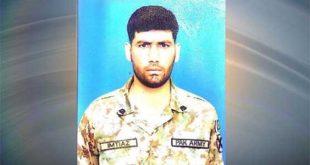 بھارتی فوج کی ایل او سی پر بلااشتعال فائرنگ، ایک سپاہی شہید