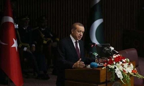 کشمیر سے متعلق پاکستانی مؤقف کی مکمل حمایت کرتے ہیں، ترک صدر