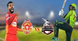 پاکستان سپر لیگ: آج لاہور قلندرز اور اسلام آباد یونائیٹڈ آمنے سا منے ہوں گے