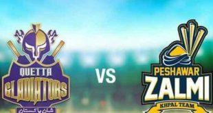 پی ایس ایل میں آج پشاور زلمی اور کوئٹہ گلیڈیٹرز کی ٹیمیں مدِ مقابل ہوں گی