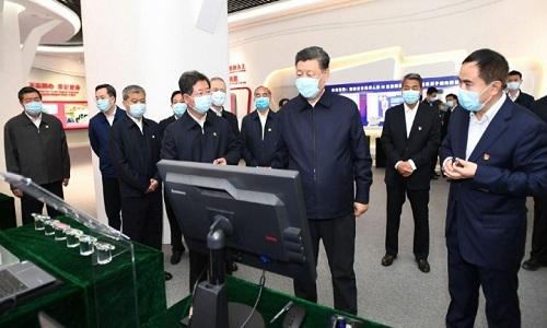چینی صدر کی دورہ شانشی کے دوران مصروفیات