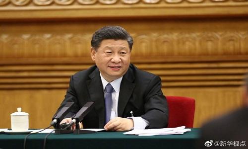 چینی صدر اندرونی منگولیا کے وفد کے اجلاس میں شریک
