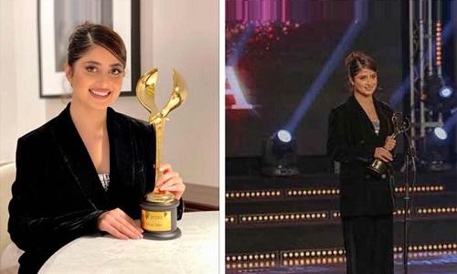 عرب فیسٹیول ایوارڈ پاکستانی اداکارہ سجل علی نے اپنے نام کر لیا