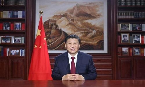 سال نو کی آمد پر چین کے صدر مملکت شی جن پھنگ کا خصوصی پیغام