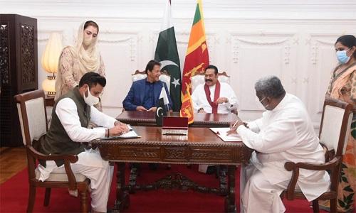 پاکستان اور سری لنکا کے مختلف شعبوں میں مفاہمت کی متعدد یادداشتوں پر دستخط