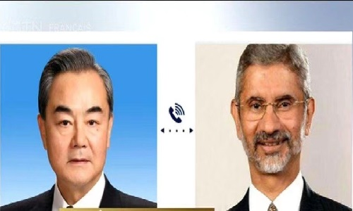 چینی وزیر خارجہ کی بھارتی ہم منصب سے ٹیلیفونک بات چیت
