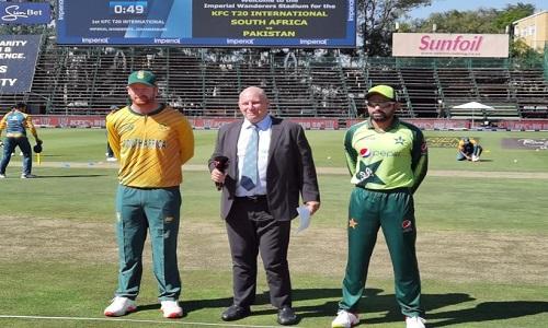 پہلا ٹی ٹوئنٹی: جنوبی افریقا کا ٹاس جیت کر بیٹنگ کا فیصلہ