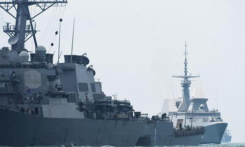 چینی پیپلز لیبریشن آرمی کی آبنائے تائیوان سے گزرنے والے امریکی جنگی جہاز کی بھر پور مخالفت