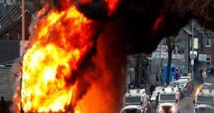 شمالی آئرلینڈ میں جاری فسادات میں 55 افراد زخمی