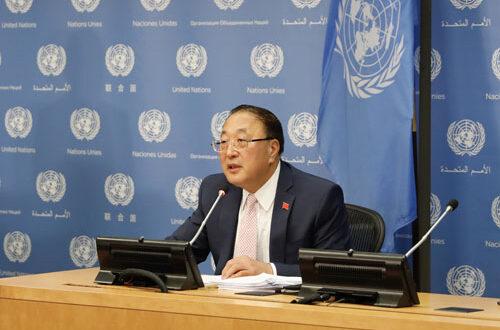 اقوام متحدہ میں چینی نمائندے کی طرف سے مئی میں سلامتی کونسل کے ایجنڈے کے حوالے سے نیوز بریفنگ کا انعقاد