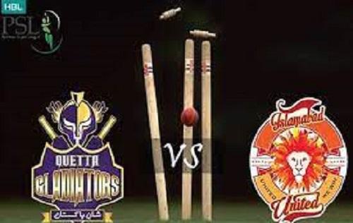 پی ایس ایل 6: آج اسلام آباد یونائیڈ کا مقابلہ کوئٹہ گلیڈایٹرز سے ہوگا