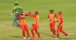 پی ایس ایل 6: اسلام آباد یونائیٹڈ نے لاہور قلندرز کو 28 رنز سے شکست دے دی