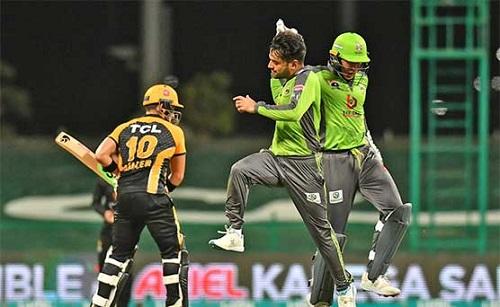 پی ایس ایل 6 : لاہور قلندرز نے پشاور زلمی کو 10 رنز سے شکست دے دی
