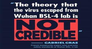 ووہان انسٹی ٹیوٹ آف وائرولوجی سے کورونا وائرس کا اخراج بالکل ناممکن ہے، فرانسیسی ماہر