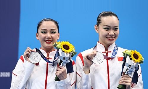 """ٹوکیو اولمپکس ،""""سنکرونائزڈ سوئمنگ"""" مقابلے میں چاندی کا تمغہ چین کے نام_fororder_0805花游 ٹوکیو اولمپکس ،""""سنکرونائزڈ سوئمنگ"""" مقابلے میں چاندی کا تمغہ چین کے نام_fororder_0805花游3 ٹوکیو اولمپکس ،""""سنکرونائزڈ سوئمنگ"""" مقابلے میں چاندی کا تمغہ چین کے نام_fororder_0805花游4"""