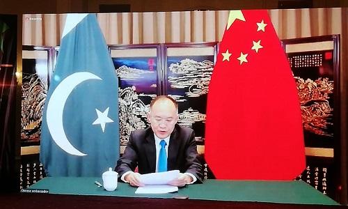 چین اور پاکستان کو غلط خبروں کے پھیلاؤ کو روکنے کیلئے مل کر کام کرنا چاہیئے: چینی سفیر