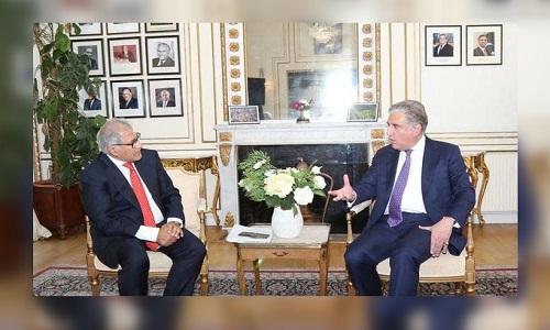 برطانیہ پاکستان فاؤنڈیشن کے چیئرمین کی وزیر خارجہ شاہ محمود قریشی سے ملاقات