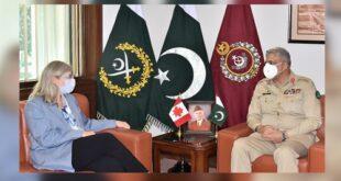 پاکستان کینیڈا کیساتھ کثیر جہتی پائیدار تعلقات کا خواہاں ہے، آرمی چیف