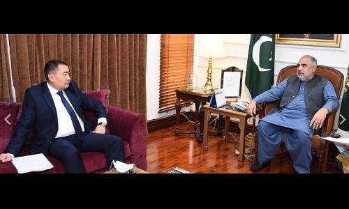 پاکستان کرغستان کے ساتھ اپنے برادرانہ تعلقات کو بڑی اہمیت دیتا ہے، سپیکر قومی اسمبلی اسد قیصر
