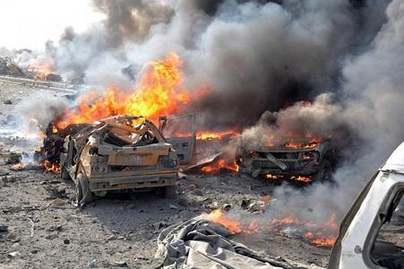 شام: کار بم دھماکے میں چار افراد ہلاک